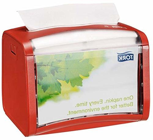 tork signature napkin red dispenser
