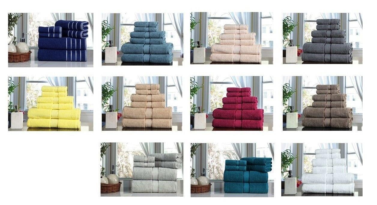 towel set 6 pc set 100 percent