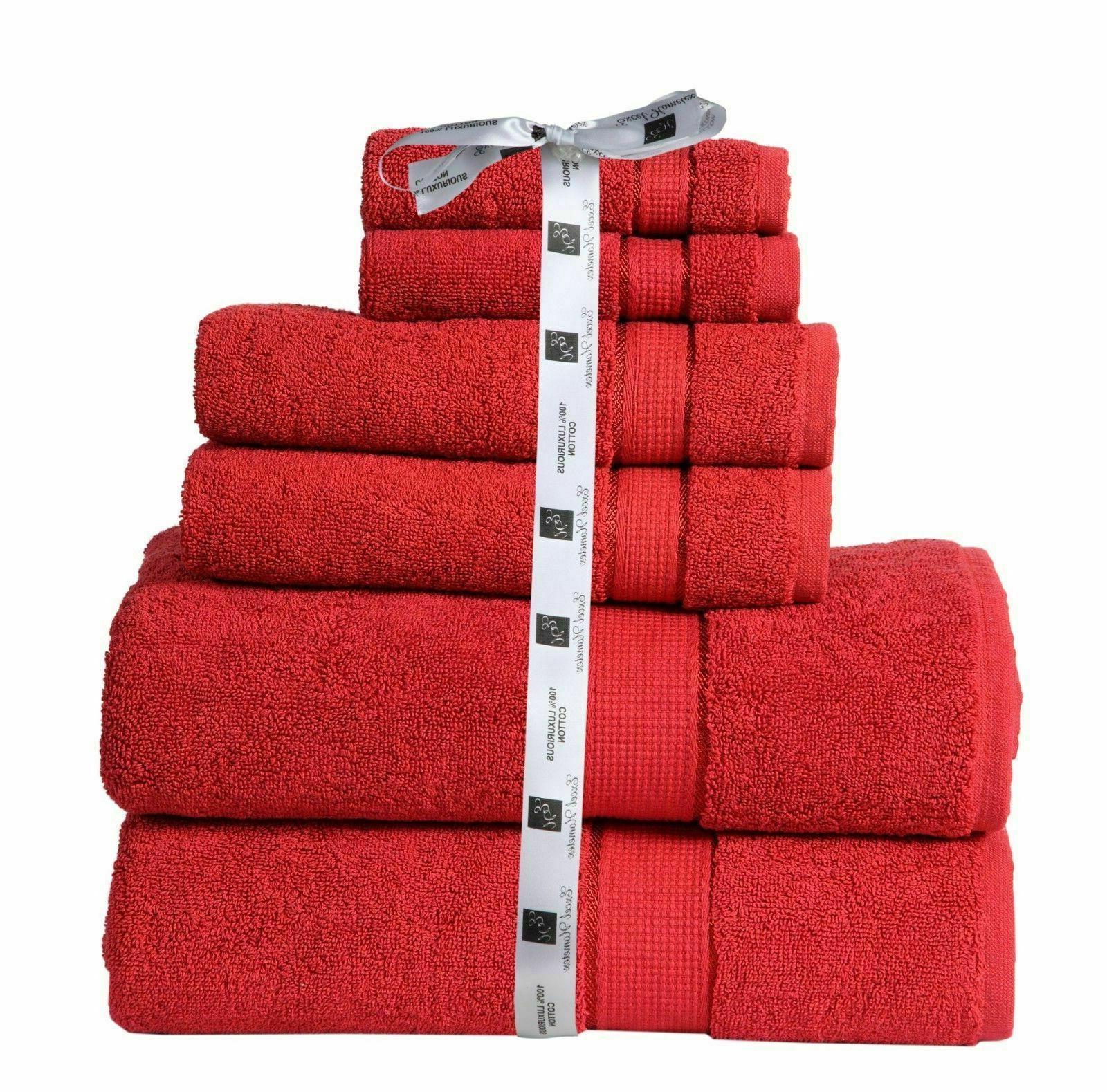 Towel Set Piece Set Cotton 2 Hand 4
