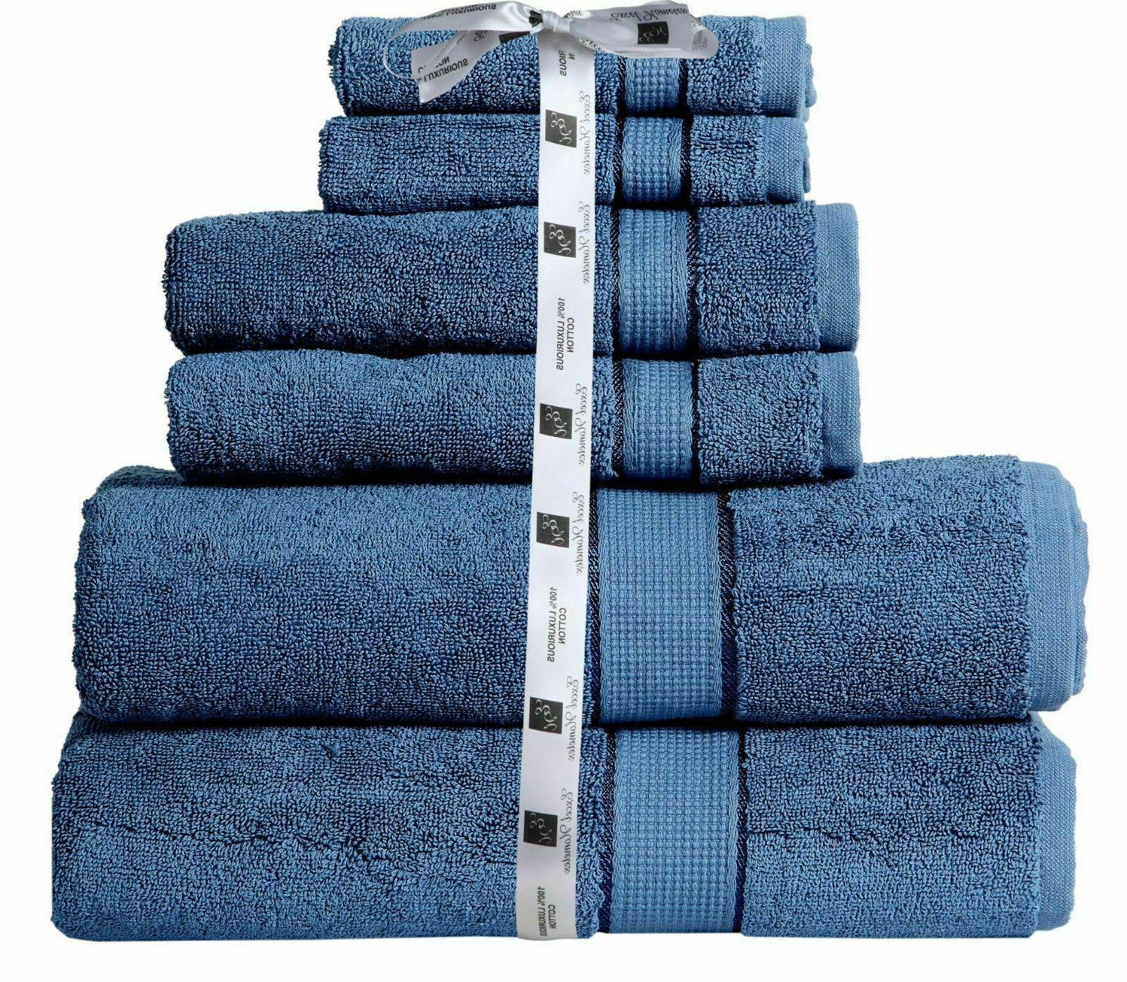 Towel 6 Piece Set Cotton 600 2 Bath Hand Towel
