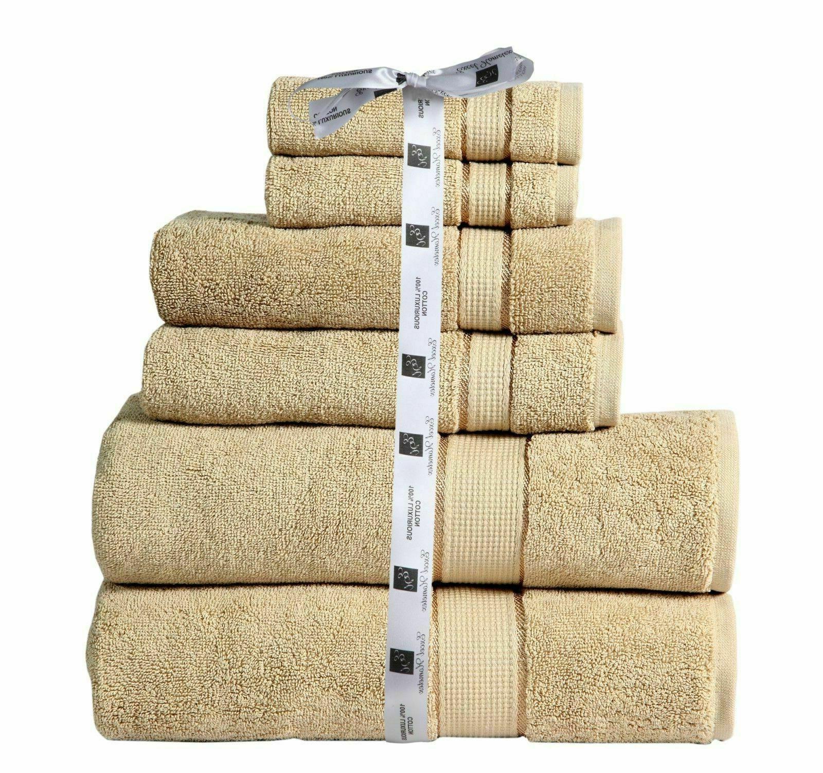 Towel Set Piece Set Cotton 600 GSM- 2 Bath Towel 2 Hand