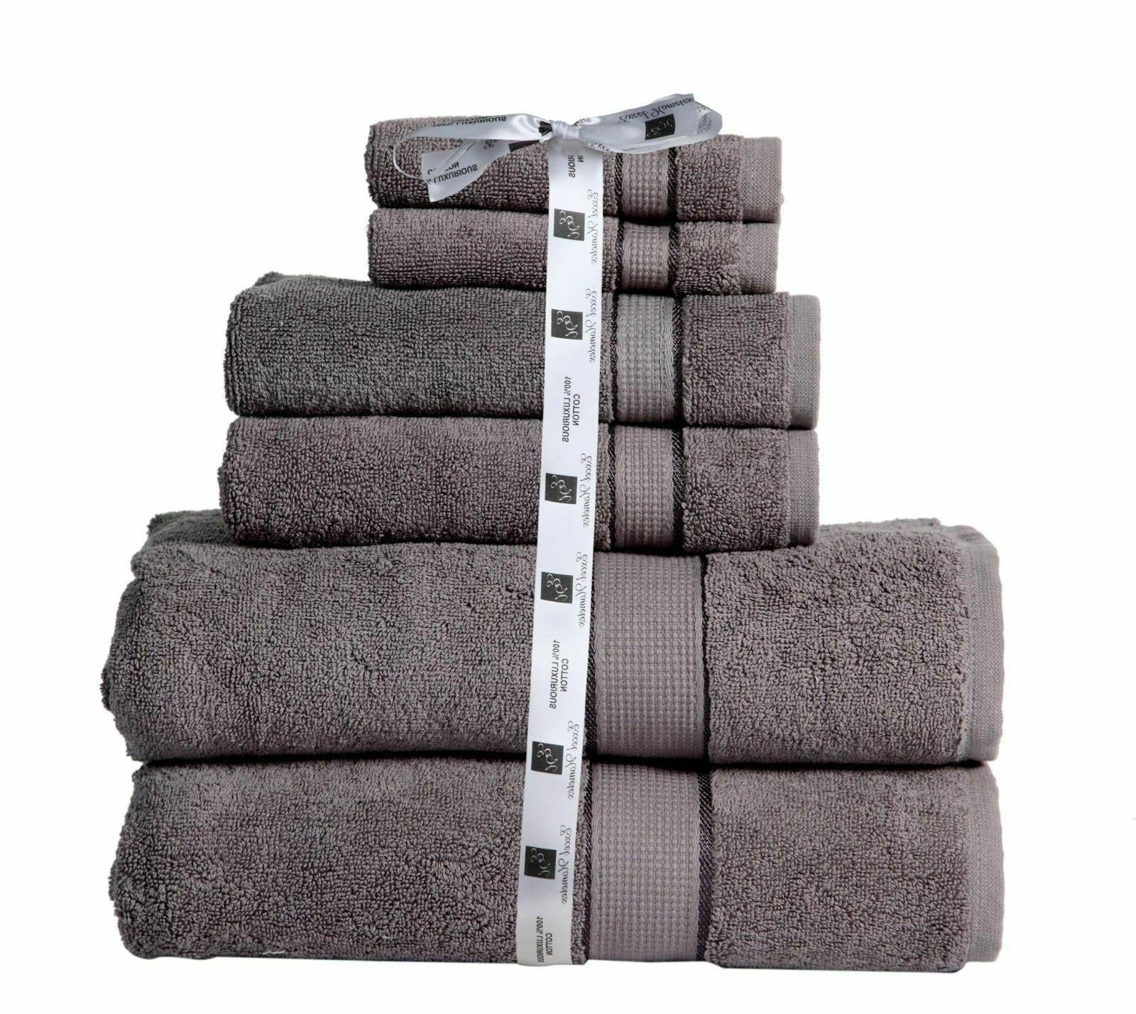 Towel Set Cotton 600 GSM- 2 Towel 2 Hand Towel Washcloth