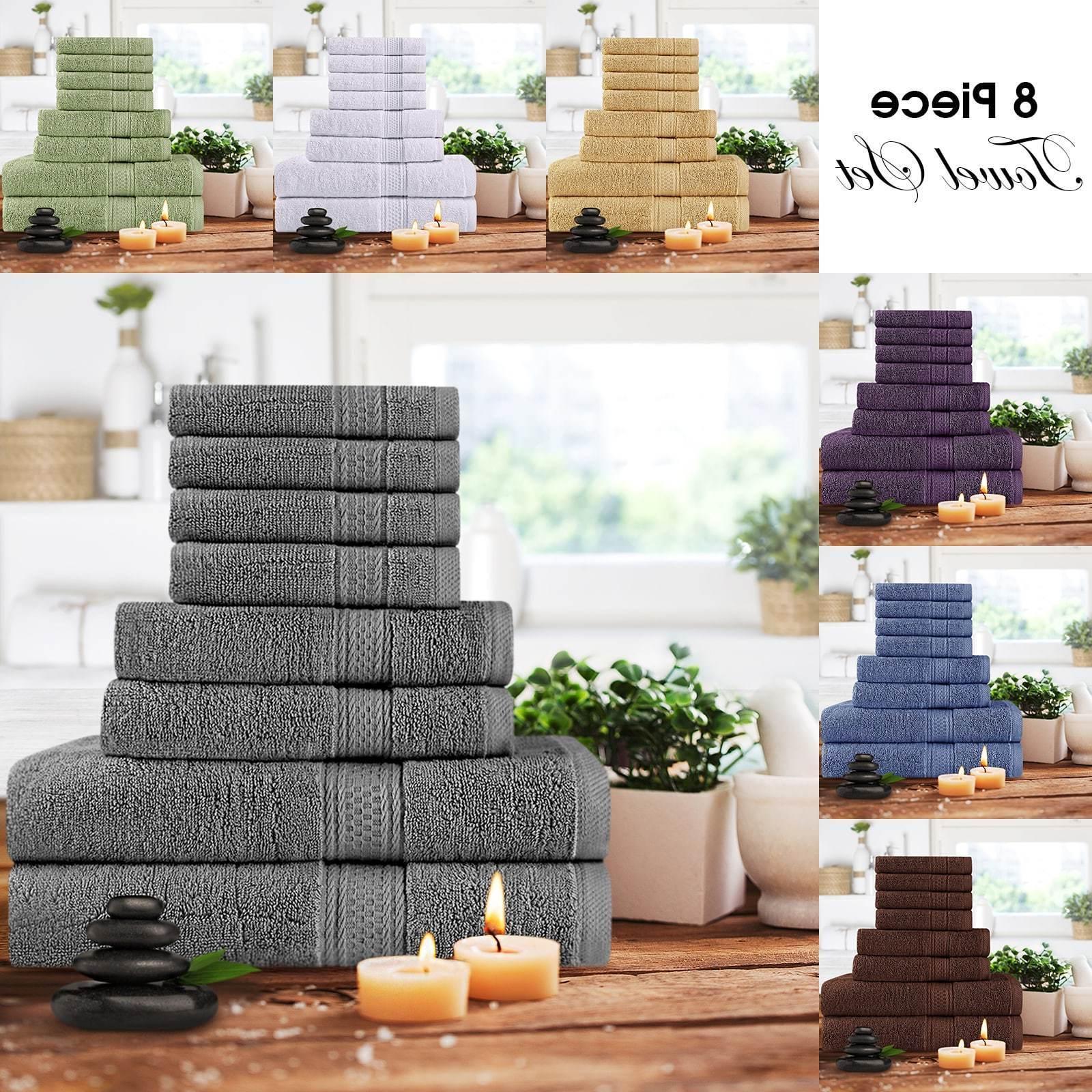 towel set 8 piece set 2 bath