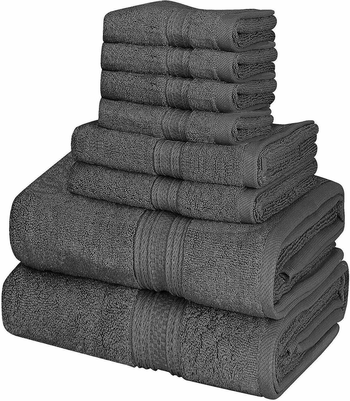 towel set 8 piece 2 bath towels