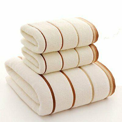 towel set cotton striped bath