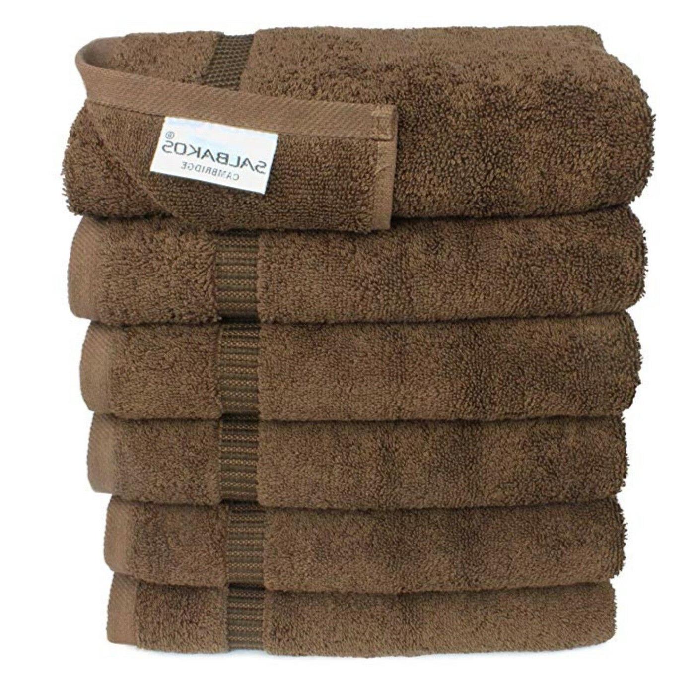 "Turkish Luxury Hotel & Spa 16""x30"" Hand Set of 6 Organic Towels"