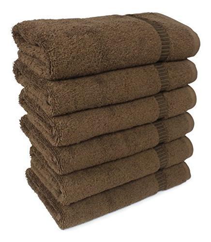 SALBAKOS Luxury Spa 6-Piece Eco-Friendly Towel Set 16 x 30 Chocolate