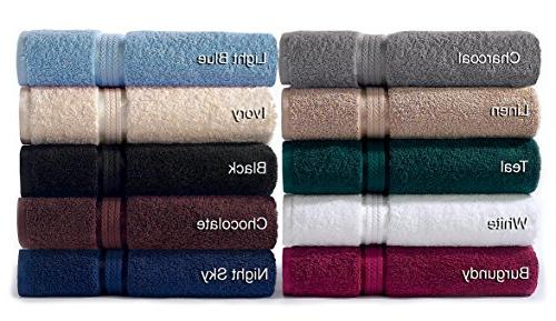 Cotton Craft 6 Pack 16x28 Teal Ounces - 100% Pure Ringspun Luxurious Ideal Everyday wash