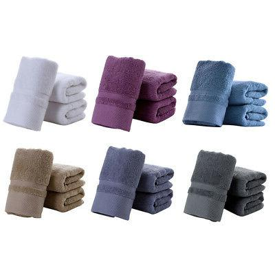 100% Cotton Solid Color Towels Luxury Soft Thick Towel