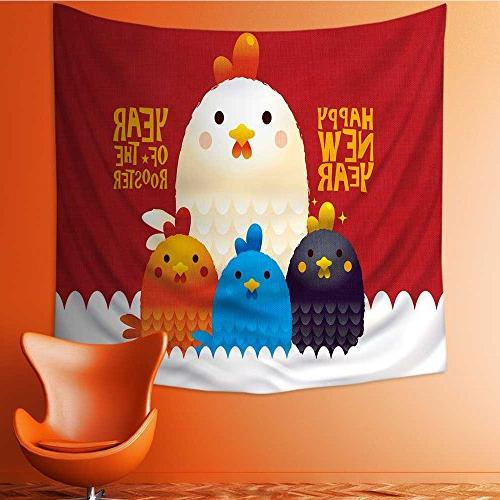 wall tapestries chicken year card