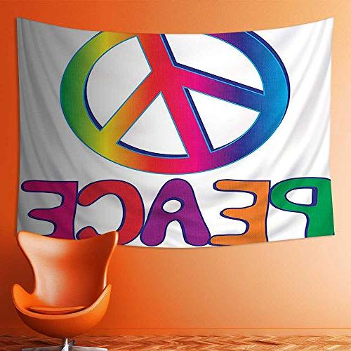 wall tapestries collection peace text