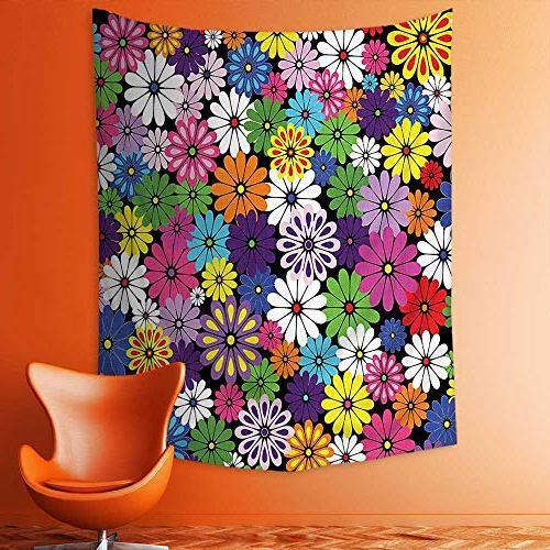 wall tapestries floral vivid pattern