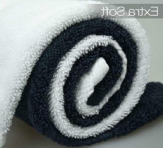 Cleanbear Wash Cloths 100% Cotton Washcloths, 6-Pack Soft