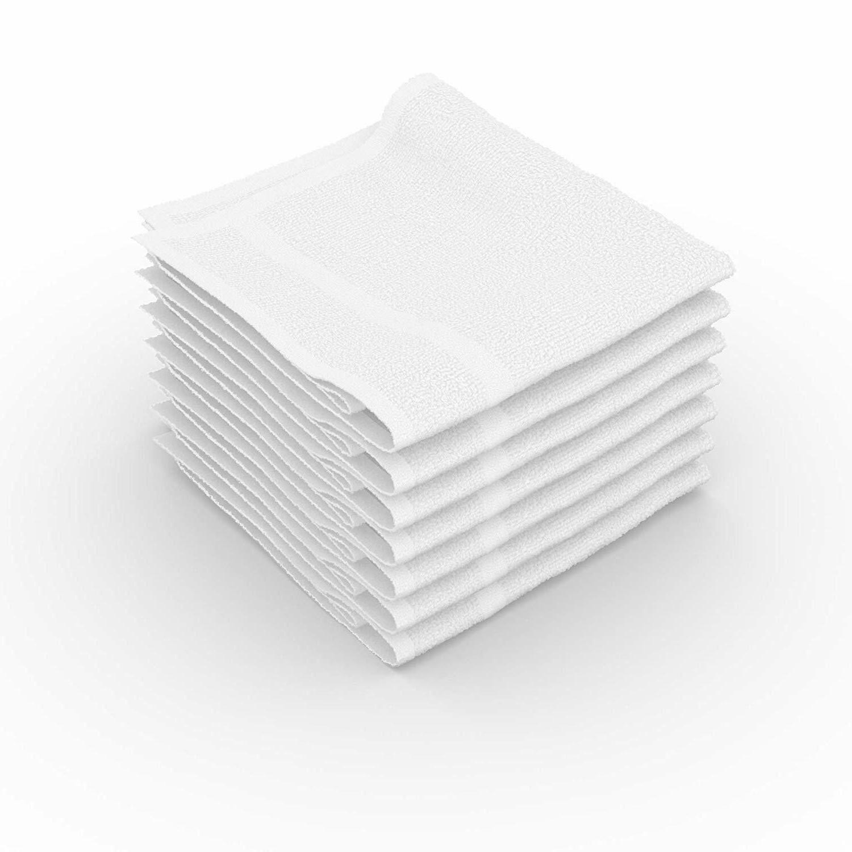 White 100% 12x12 Wash Gym Towel