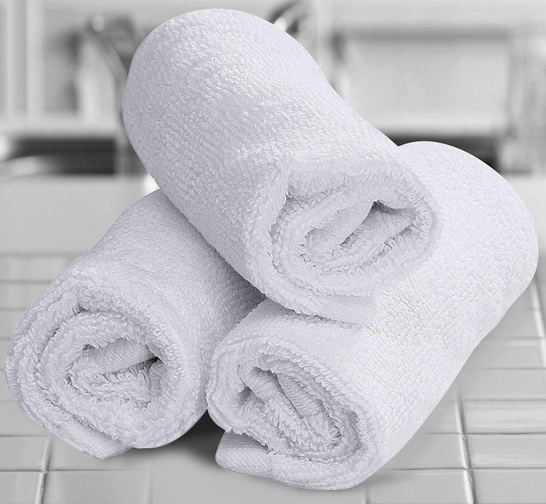 White 100% Cloth 12x12 Towel