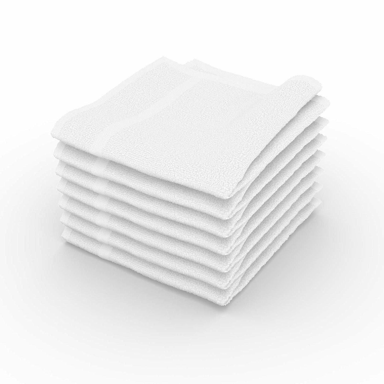 White Washcloth 24 12x12 Towel