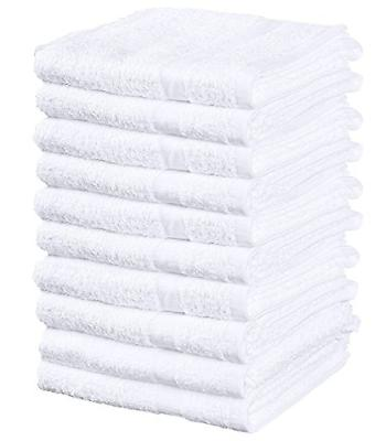 Weaved Collection White Hand Towels, Basic Cotton 100% Cotto