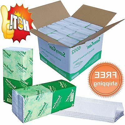 SunnyCare® #6002 Paper Hand Towels 2400 Towels