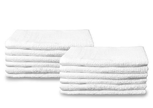 white cotton towel washcloths