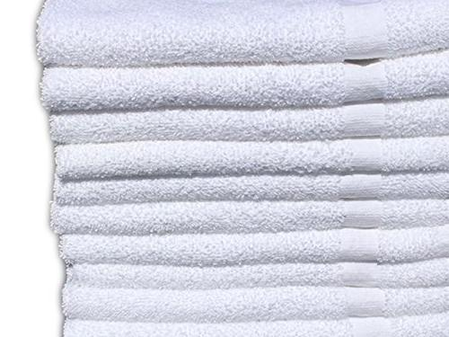 GOLD TEXTILES Pack White Economy 100% 15X25 Hand Gym Towels