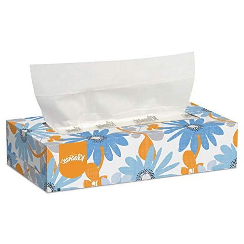 white facial tissue