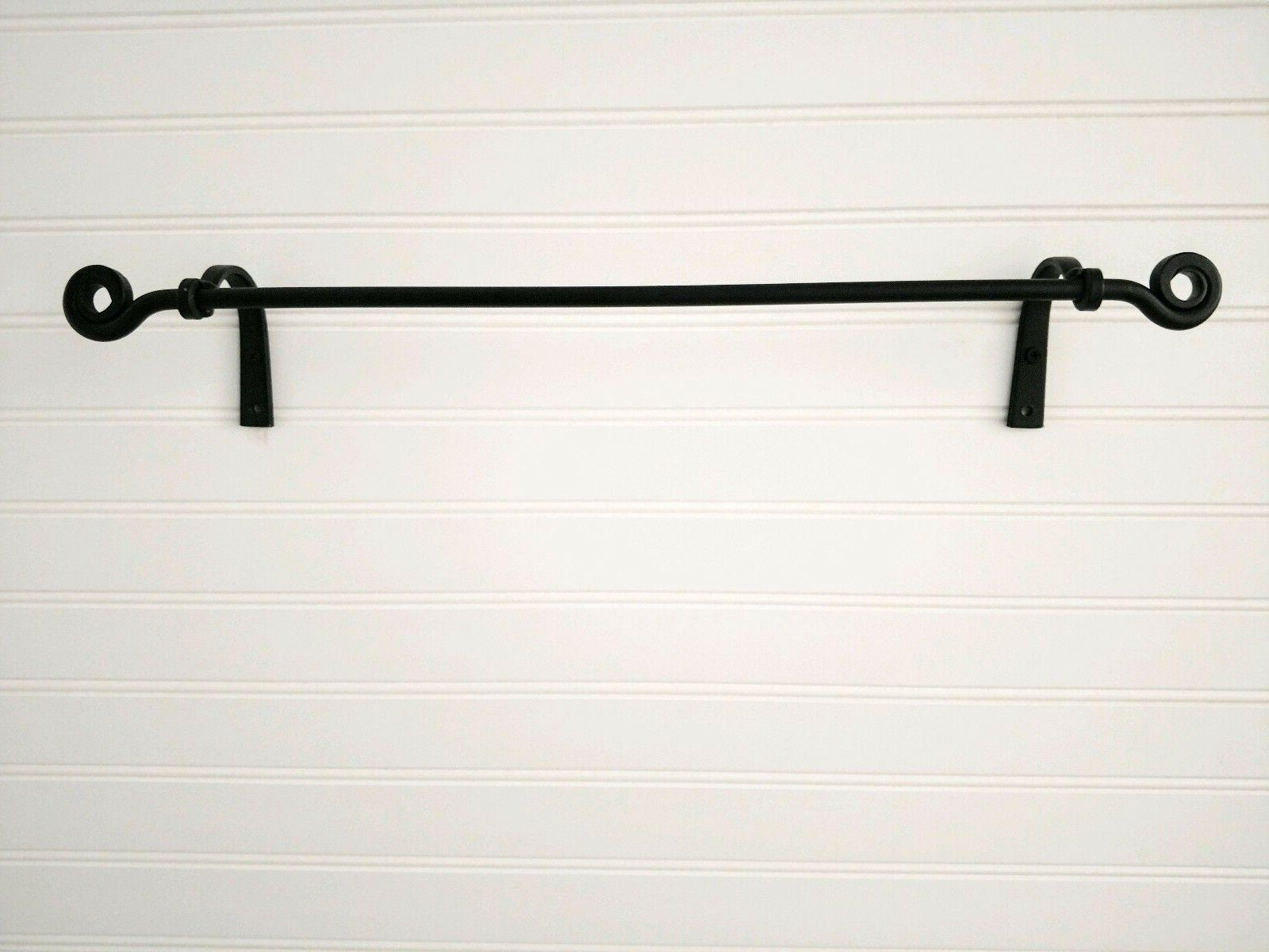 Amish forged wrought iron small towel bar - strong & sturdy
