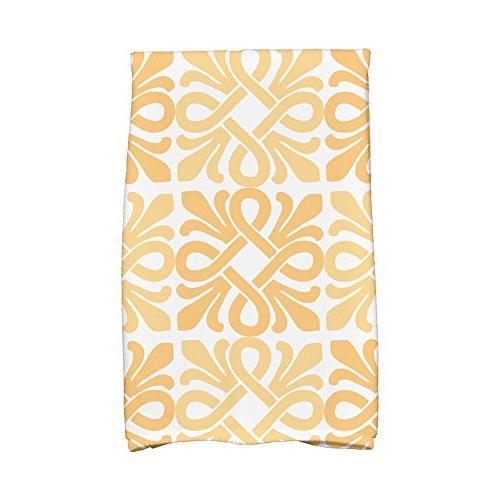 yellow tiki square hand towel