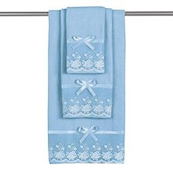 Collections Etc Lace Trim Decorative Display Bath Towel Set