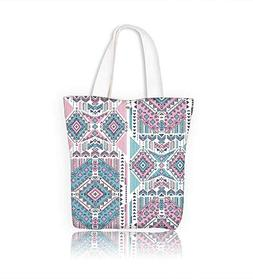 Ladies canvas tote bag Tribal vintage ethnic seamless for yo
