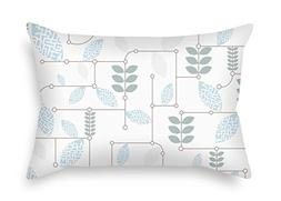 TonyLegner Leaf Throw Pillow Covers 18 X 26 inches / 45 65 c