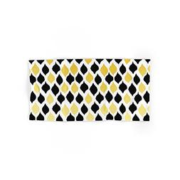 """Society6 Leaves In Gold And Black Hand Towel 30""""x15"""""""