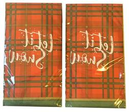 Let It Snow Plaid Buffet Guest Hand Towels Napkins Party Pap