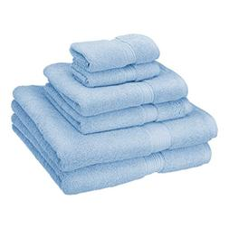 PH 6 Piece Light Blue Rope Border Towel Set With 30 X 55 Inc