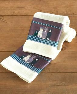 Linda Spivey Country Cats Bathroom - Set of 2 Hand Towels