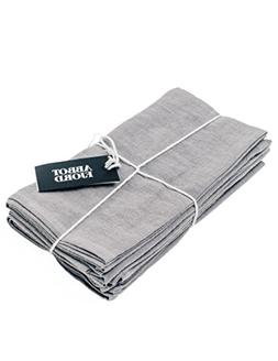 Abbot Fjord Linen Dinner Napkins - Soft and Durable Cloth -
