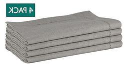 Lino Mantra - 100% Pure Linen Hemstitch Napkins - Set of 4-2