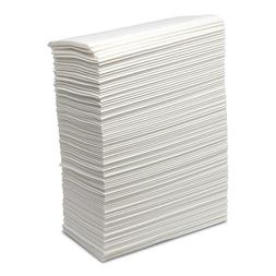 "Linen Feel Napkins - 1000 Count - 8"" x 17"" - Disposable Whit"