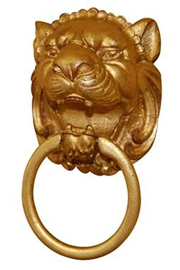 Hickory Manor House Lion Head Wall Mounted Holder Towel Ring