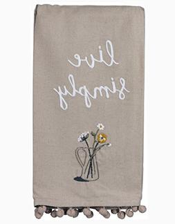 Primitives by Kathy Live Simply Kitchen Towel - Embroidered