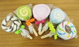lollipop hand towel party favor assorted colors