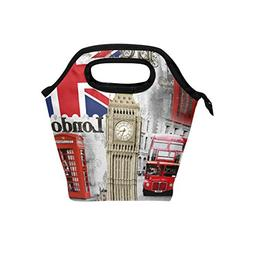 e1f161cbda18 Naanle London Insulated Zipper Lunch Bag...