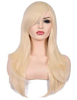 "Morvally 23"" Long Curly Wig Big Wave Heat Resistant Syntheti"