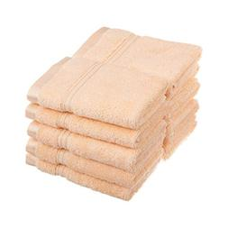 eLuxurySupply Long Staple Cotton Face Towel Set - 10-Piece -