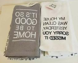 """Lot of 2  Hand Towels Set Of 2 """"It's So Good To Be Home"""" &"""