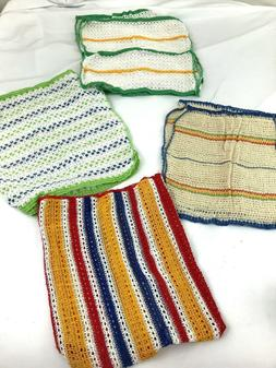 Lot Of 8 Hand Towels Dish Wash cloths multi color