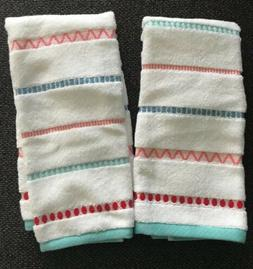 Lot x 2 Striped Hand Towel Opalhouse Target  Perfectly Soft