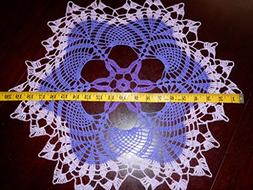 Lovely Handmade Crochet Tablecloth Doily,Violet Colors, Roun
