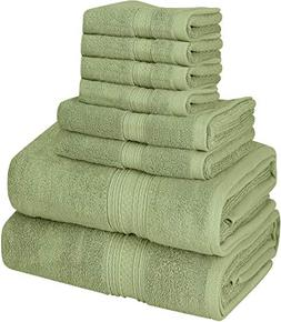 Utopia Towels Luxurious 700 GSM Thick 8 Piece Towel Set Sage