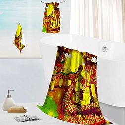 AmaPark Luxurious Soft and Thick Bath Towels Lantern Festiva