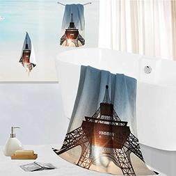 AuraiseHome Luxurious Soft and Thick Bath Towels Eiffel to